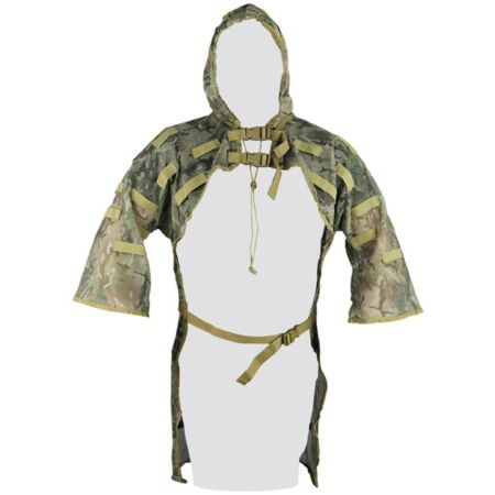 img-Ghillie Concealment Vest With Hood BTP Camo Lightweight Mesh - Sniper Suit