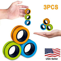 Kyпить Random Color Anti-Stress Magnetic Spinner Rings Unzip Toy Magic Ring For Kids на еВаy.соm