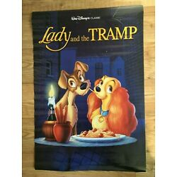 Lady & The Tramp Officially Licensed Glossy Poster Athena Int'l Vintage 1997