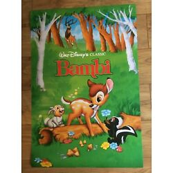 Disney Bambi Officially Licensed Glossy Poster Athena Int'l Vintage 1993