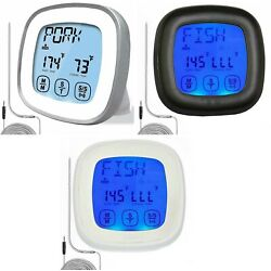 Kyпить Barbecue Digital Meat Thermometer & Timer w/ 2 Stainless Steel Probes на еВаy.соm