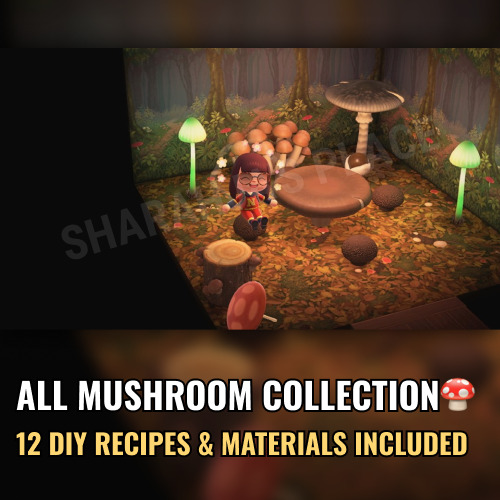 Mions,FranceMushroom Complete Collection Animal Crossing New Horizons