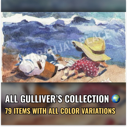 Mions,FranceAll Gulliver's (no pirate) Collection (79items) Animal Crossing New Horizons 🌍
