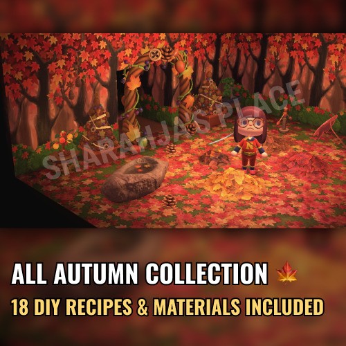 Mions,FranceAutumn Maple Leaf Complete Collection Animal Crossing New Horizons