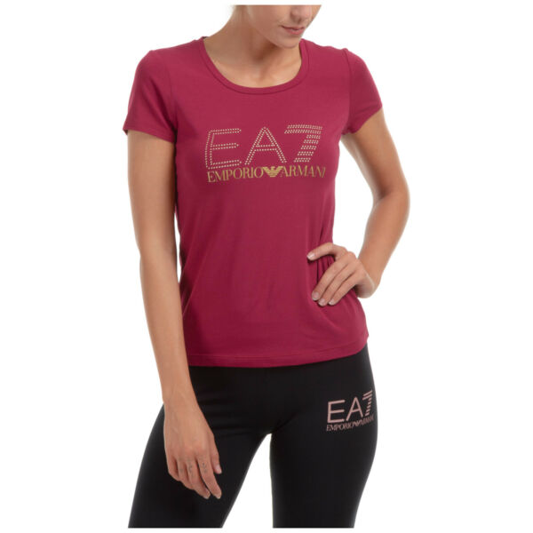ItalieEmporio Armani EA7 t-shirt femme 6HTT01TJ2HZ1493 manches  BEET RED Rosso