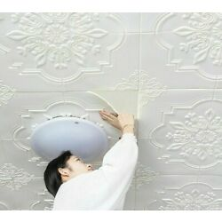 Self-Adhesive PVC Ceiling Wallpapers European Style 3D Stickers Home Improvement
