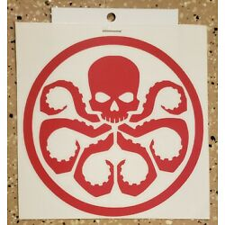 Awesome Handcrafted Marvel Hail Hydra Logo Red Vinyl Decal Indoor/Outdoor NEW 5''