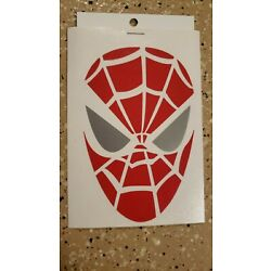 Awesome Handcrafted Marvel Spider-man Red Vinyl Decal Indoor/Outdoor NEW 5''