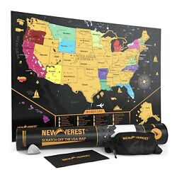 Kyпить Scratch Off United States Map - Detailed USA Map, Travel Art Poster, Fits X 20 4 на еВаy.соm