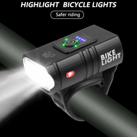 img-LED Bicycle Headlights Rechargeable Power Mountain Road Riding Equipment Outdoor