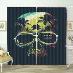 Green Forest Glasses 3D Curtain Blockout Photo Printing Curtains Drape Fabric