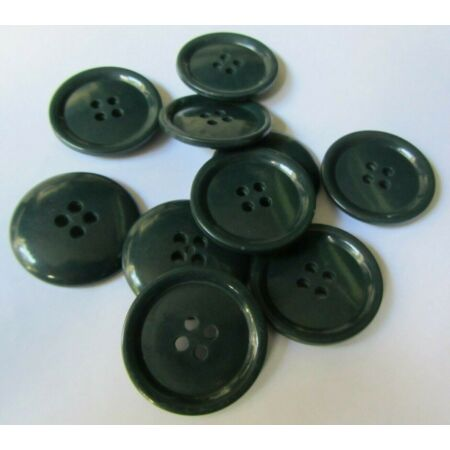 img-Vintage 1950's British Army Middle Parka Buttons-X10-Dark Green