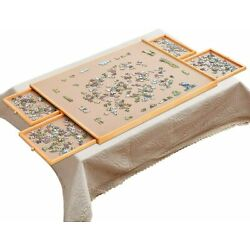 Kyпить 1500 Pieces Jigsaw Puzzles Jumbl Puzzle Board Wooden Table Tray Game 34
