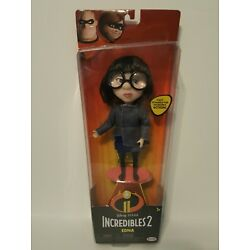 Jakks Pacific Disney Pixar Incredibles 2 Edna Doll With Removable Glasses, NEW