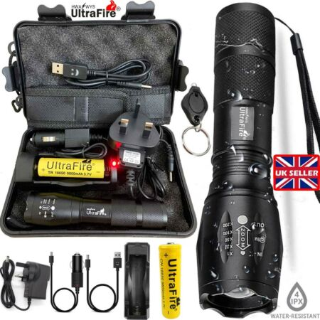 img-90000lm Zoom Ultrafire G700 CREE LED Tactical Flashlight Military Grade Torch