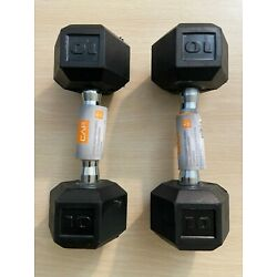 Kyпить ???? NEW CAP Coated Rubber Hex Dumbbell SETS 10, 15, 20, 25, 30, 35, 40 LB IN HAND на еВаy.соm
