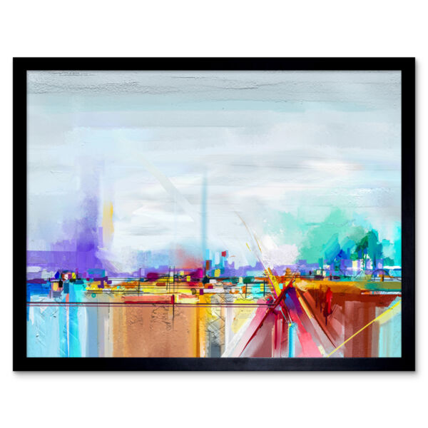 Royaume-UniAbstract Contemporary Landscape 12X16 Inch Framed Art Print