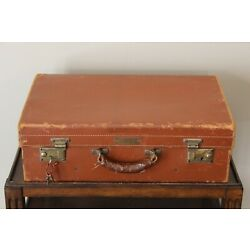 Kyпить Abercrombie & Fitch Vintage Leather Travel Suitcase Luggage Made in England Key на еВаy.соm