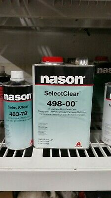 Nason SelectClear 498-00 2K Urethane Multi-Panel Clear coat Kit with Activator