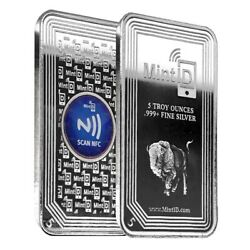 Kyпить 5 oz MintID Buffalo Silver Bar .999+ Fine (NFC Scan Authentication) на еВаy.соm