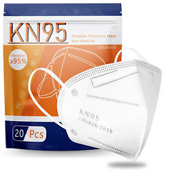 Kyпить 100 PCS 5 Layers Face Mask Mouth & Nose Protector Respirator Masks USA Seller на еВаy.соm