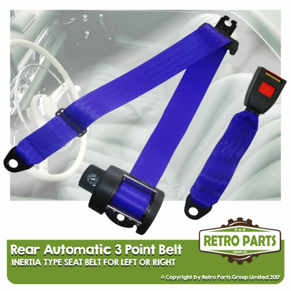 Royaume-UniRear Automatic Seat Belt For  Sapporo Berlina 2dr 1981-1988 Blue