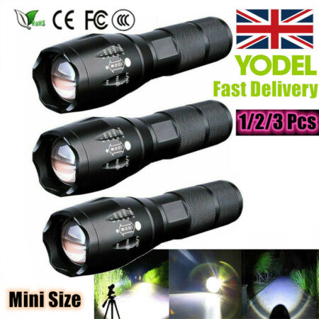 img-90000LM T6 LED Super Bright Zoom Flashlight Powerful 18650 Camping Lamp Torch