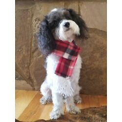 Pet Scarf With Fringe Dog Scarf for Small Dogs You Pick 2 Choices Winter Scarf