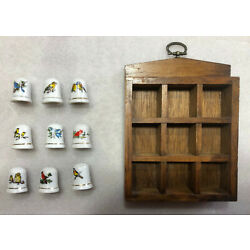 Kyпить Set of 9 Bird Themed Thimbles With Wooden Diplay Rack на еВаy.соm