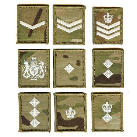 img-Ivory on Multicam MTP Rank Patch Badge - All Ranks (Hook and Loop Backed)