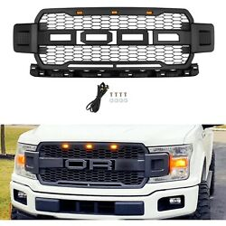 Kyпить For 2018-2020 Ford F150 Raptor Style Conversion Front Hood Grille W/ LED Grill на еВаy.соm
