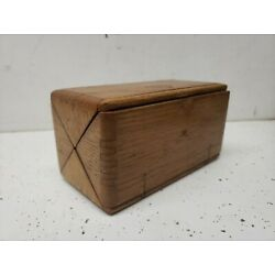 Kyпить Antique Singer Sewing Machine Attachments in Folding Wood Puzzle Tool Box  на еВаy.соm