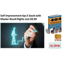 Kyпить Self Improvement Tips E book PDF with Master Resell Rights Just $0.99 на еВаy.соm