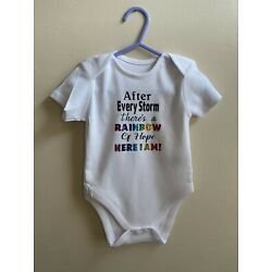 Rainbow baby Baby grow , Rainbows baby, after every storm is a rainbow