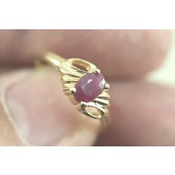 Kyпить Dainty 14k Ruby Ring Size 6 - Natural Ruby in Yellow Gold - Birthstone for July на еВаy.соm