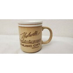 Kyпить Vintage Nashville Music City Souvenir Coffee Mug Musical Notes Guitar Boots 1985 на еВаy.соm