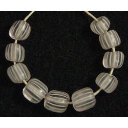 Kyпить 10 Old Antique Venetian CLEAR GOOSEBERRY Glass African Trade Beads 6 to 7 mm на еВаy.соm