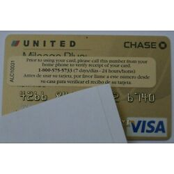 Kyпить Expired 2010 Chase Bank United Airlines Visa Credit Card Mint Gold USA на еВаy.соm