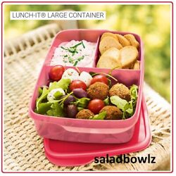 Kyпить TUPPERWARE New LARGE 1L LUNCH-IT DIVIDED CONTAINER Rectangular Larger Size SUM20 на еВаy.соm