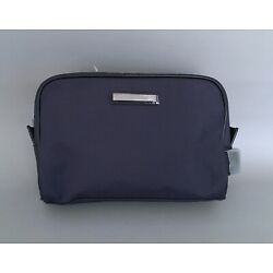 Kyпить MICHAEL KORS Deep Blue Nylon-Black Faux Leather Toiletry Travel Bag For Men-NEW! на еВаy.соm
