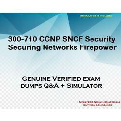 300-710 CCNP SNCF Security Securing Networks Firepower practice exam + sim