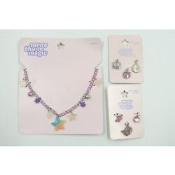 Girl's More Than Magic Necklace + Charms Cute Jewelry Rainbow Stars Gift Set