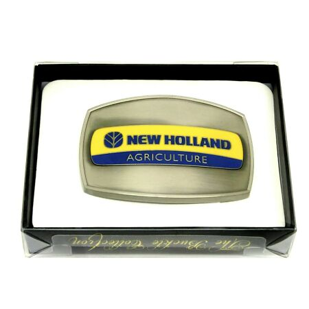 img-New Holland Agriculture Belt Buckle Gun Metal Grey Spec Cast Officially Licensed