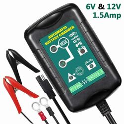 Car Auto Motorcycle Battery Charger Float Trickle Tender Maintainer 6V/12V
