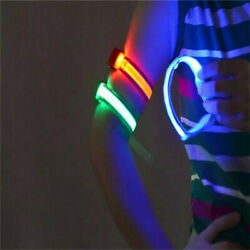 Reflective LED Armband Ankle Light Running Cycling Night Safety