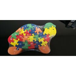 Turtle Alphabet and Counting Jigsaw Puzzle for Kids Colorful Pieces