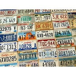 Kyпить Starter pack of 10 License Plates From 10 Different States in Craft Condition на еВаy.соm