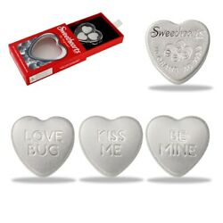 Kyпить 30 gram Silver Sweethearts Candy PAMP Suisse 3-Heart Set .9999 Fine (w/Box) на еВаy.соm