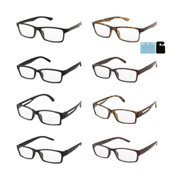 Distance Glasses Square Frames Near Sighted -1.00 to -4.00 Negative Strengths