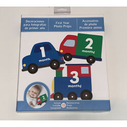 Kyпить Baby FIRST YEAR MILESTONE TRANSPORTATION Photo Prop Number Cards Car Truck Train на еВаy.соm